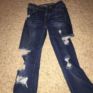 American eagle distressed jeans size 00L